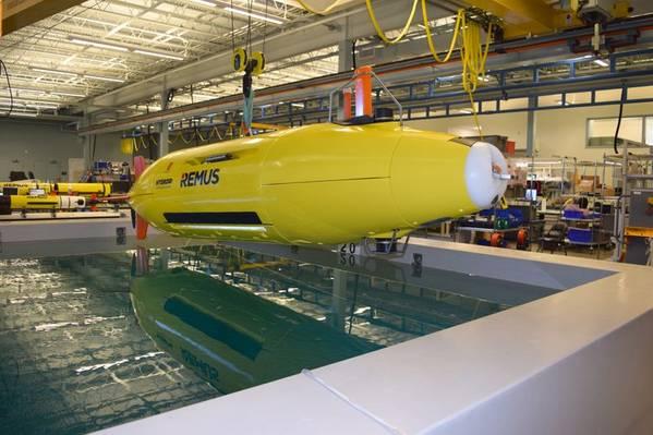 Το αυτόνομο υποβρύχιο όχημα REMUS του υδρογόνου (Φωτογραφία: Υδρογόνο)