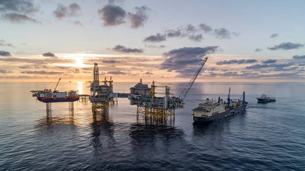 Сайпем Кастороне на поле Йохан Свердруп в Северном море. (Фото: Bo B. Randulff / Roar Lindefjeld / Equinor ASA)