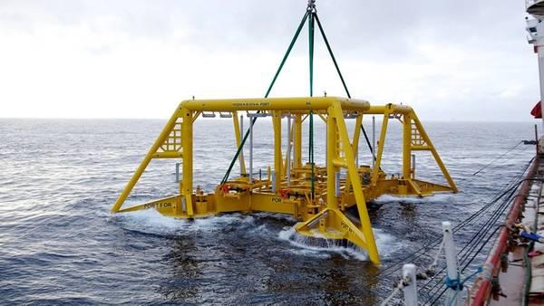 تركيب Vigdis تحت سطح البحر (الصورة: Andre´ Osmundsen / Equinor)