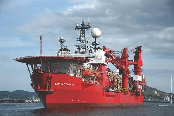 ファイル画像:海底7の海上支援船。クレジット:Subsea 7