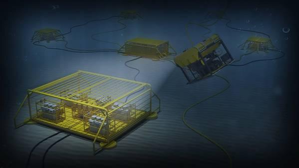 由ABB与Equinor,雪佛龙和道达尔(Total)合作开发的新的海底配电和转换技术系统将使石油和天然气生产更加清洁,安全和可持续。图片:ABB)
