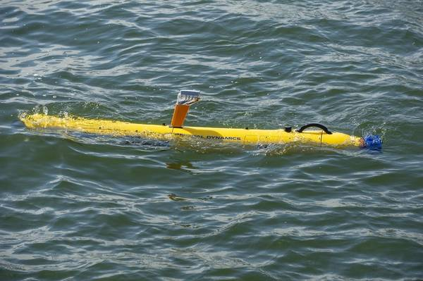 Bluefin-9無人潜水艇(UUV)。画像:General Dynamics Mission Systems