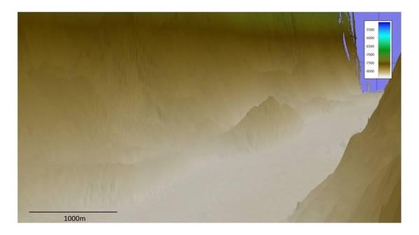 "Kongsberg Maritime EM 124 1x2""将波多黎各海沟的地图绘制成深度超过8,000米。(照片:Kongsberg Maritime)"