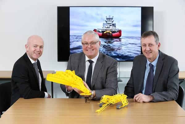 Mark Gillespie, diretor executivo da ESS, gerente de desenvolvimento de negócios global Andy Readyhough e diretor comercial Iain Middleton. (Foto: ESS)