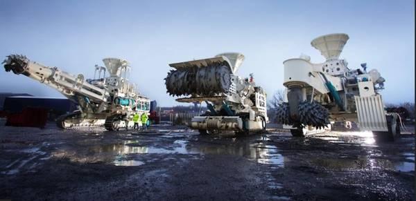 Solwara 1 projeto ferramentas de mineração no fundo do mar. Cortesia de Nautilus Minerals.