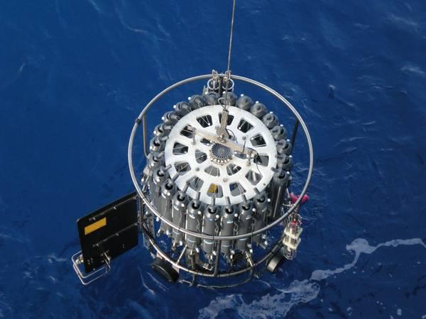 Uno de los instrumentos CTD utilizados para recopilar los datos utilizados en este estudio (Foto: NOC)