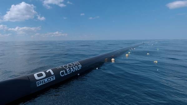 El sistema Ocean Cleanup (Foto: Seatools)