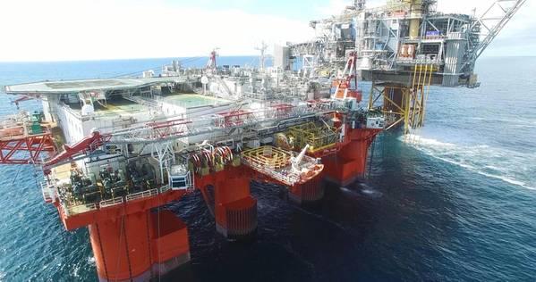 Dateibild: Ein Foto, das während einer Offshore-DNV-GL-Drone-aktivierten Umfrage aufgenommen wurde (CREDIT: DNV GL)