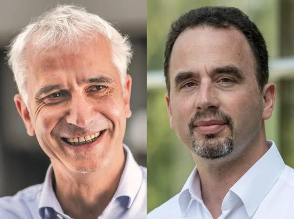 Fabien Napolitano (esquerda) e Thomas Buret (Fotos: iXblue)