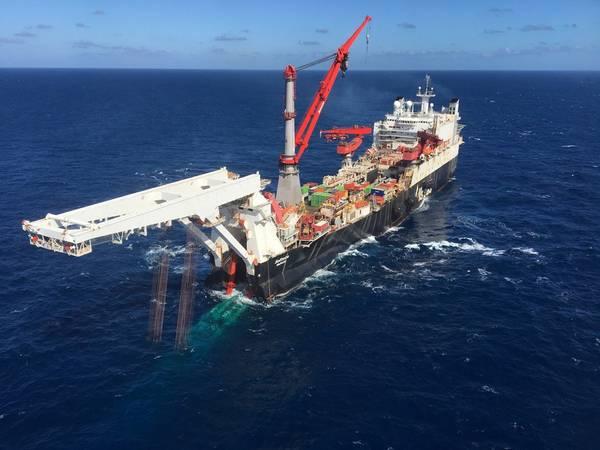 O Pipelay do Gasoduto Nord Stream 2 começou na Finlândia (Foto: Allseas)
