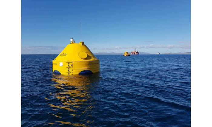CorPower's C3 in scapa flow, Orkney. Photo Credit CorPower