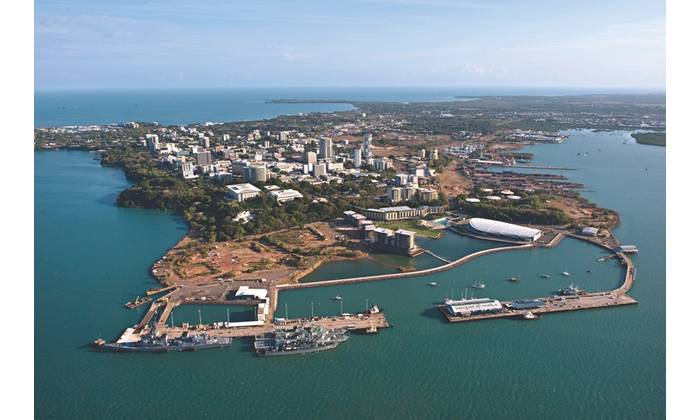 Darwin is a major multi-modal port serving shipping and cargo markets.  The port conveys a wide range of exports and provides services for offshore oil and gas rigs. (Photo: Port of Darwin)