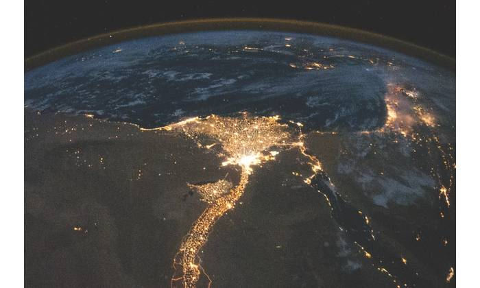 One of the fascinating aspects of viewing Earth at night is how well the lights show the distribution of people. In this view of Egypt, we see a population almost completely concentrated along the Nile Valley, just a small percentage of the country's land area.  (Image Credit: NASA:Historic Images on Flickr Commons)