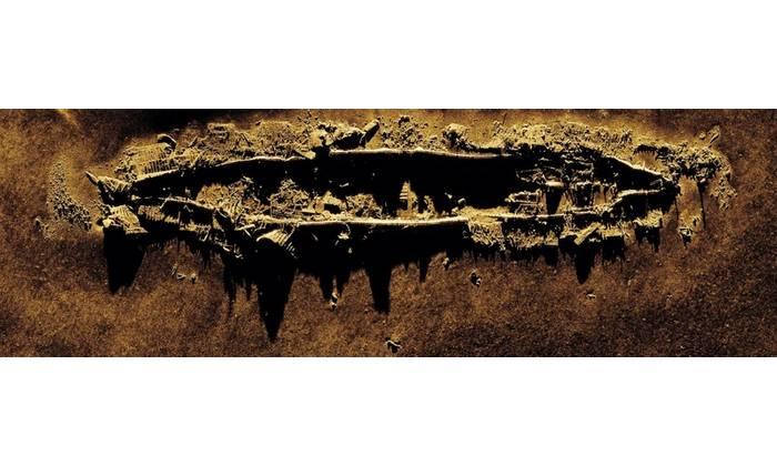 Figure 1: Kraken MINSAS image of the wreck of the USS Yankee, collected on the DIVE-LD. Image courtesy Kraken