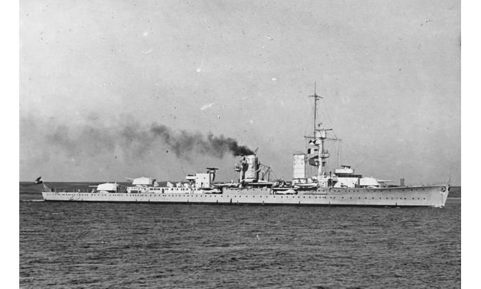German cruiser Karlsruhe (Photo: German Federal Archive)