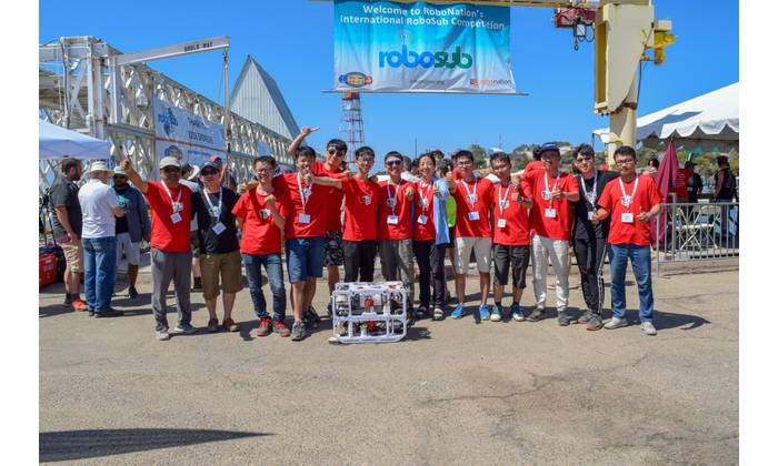 Harbin Engineering University from China takes first place in the 2018 International RoboSub Competition. RoboSub is a robotics program where students design and build autonomous underwater vehicles to compete in a series of visual-and acoustic-based tasks. (Photo by Julianna Smith, RoboNation)