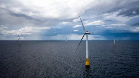 The Hywind Scotland floating wind farm. (Photo: Øyvind Gravås / Woldcam - Statoil ASA)