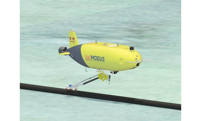 Image Caption: Kawasaki Heavy Industries' (KHI) SPICE AUV will use tracking, communiciations and navigation technology from Sonardyne on its long-endurance missions. Image from KHI.