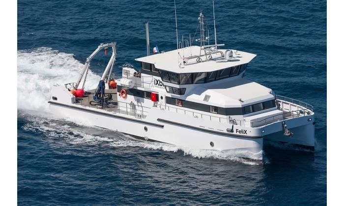 iXblue's hydrographic research vessel FeliX (Photo: iXblue)