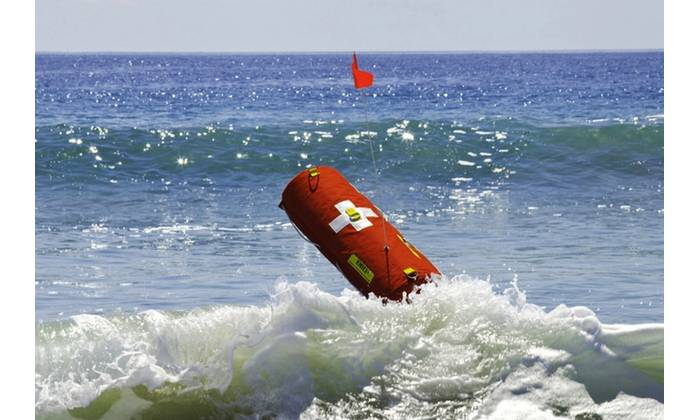 Meet EMILY the robotic lifeguard, officially known as the Emergency Integrated Lifesaving Lanyard. Created with support from the Office of Naval Research (ONR), EMILY is a remote-controlled buoy that recently was used to rescue nearly 300 Syrian migrants from drowning in the waters off the Greek island of Lesbos. (Photo courtesy of Hydronalix/Released)