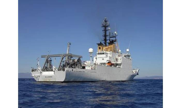 NATO's 3,100-ton, 305-foot research vessel NRV Alliance has been a leading platform for underwater acoustics research to the benefit of NATO navies. Photo: NATO CMRE