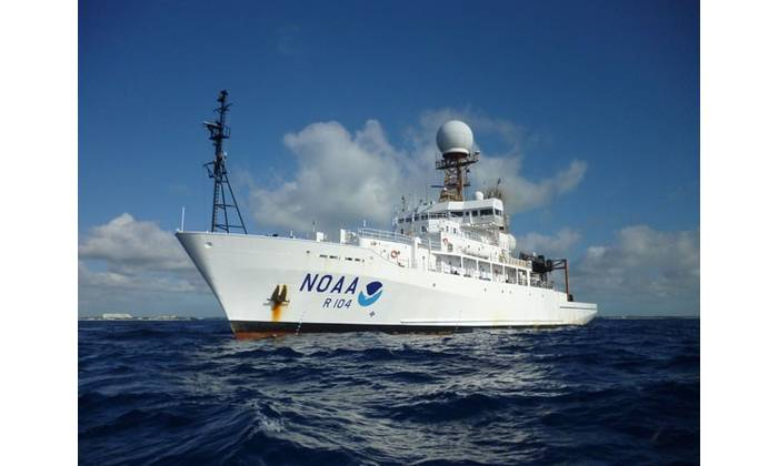 Oceanographer and Discoverer will join NOAA's ship fleet, which includes NOAA Ship Ronald H. Brown, the agency's largest research vessel. (Photo: Wes Struble/NOAA)