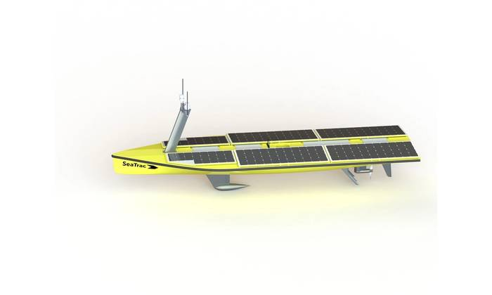 SeaTrac's new SP-48 production model ASV. Buddy Duncan, SeaTrac.