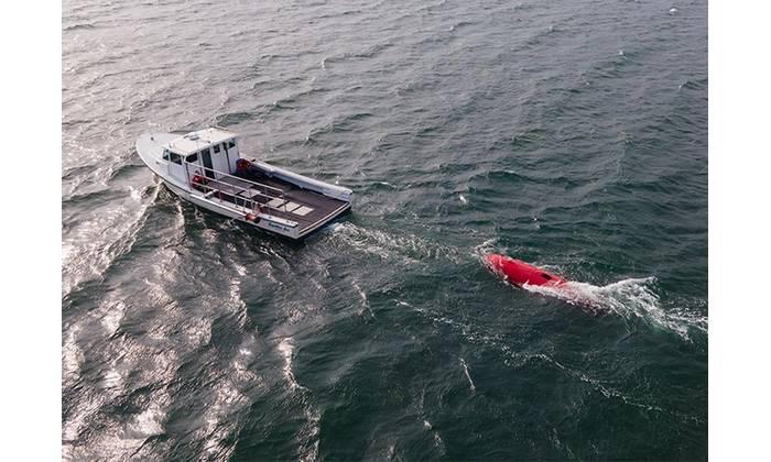 Sonardyne's underwater technologies are supporting Dive Technologies' large displacement DIVE-LD autonomous underwater vehicle (AUV) program. Photo Courtesy Sonardyne