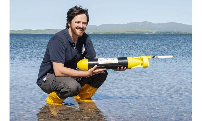 PhD student James Coogan will be deploying the ecoSUB on its mission into a hostile Arctic environment (Photo: SAMS)