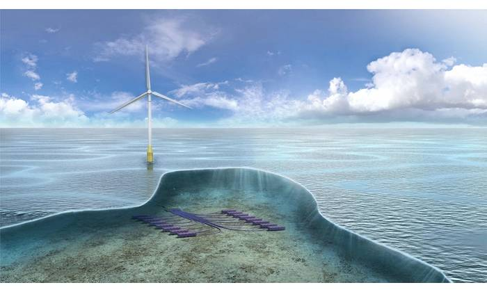 TechnipFMC is working with a consortium on subsea hydrogen production and storage technology Deep Purple. Image from TechnipFMC.