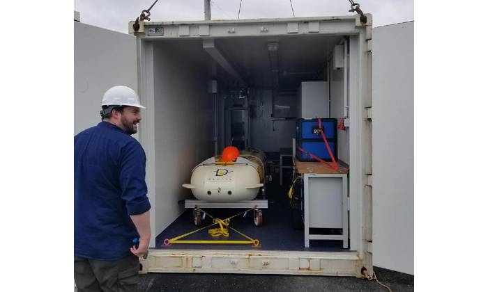 ThunderFish Alpha being delivered to Kraken's facility in Conception Bay South, Newfoundland (Photo: Kraken)