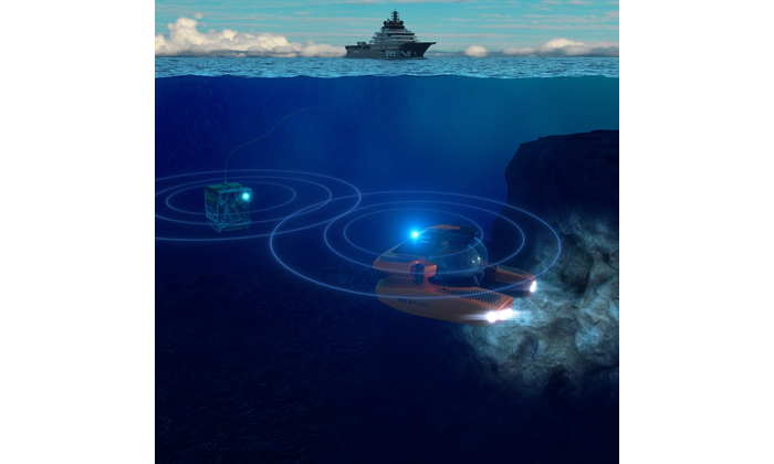 Underwater research re-imagined. Sonardyne's BlueComm will unlock opportunities to share ocean science from onboard the REV Ocean. Image from Sonardyne.