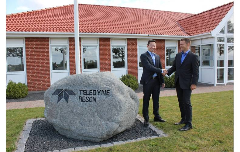 Kim Lehmann, President of the Teledyne Marine Acoustic Imaging Group and Teledyne RESON Group, on the right, and on the left the future General Manager of Teledyne RESON GmbH in Bremen, Carsten Park Andreasen, who will be responsible for the transformation and integration of Teledyne ATLAS Hydrographic into the Teledyne RESON Group.
