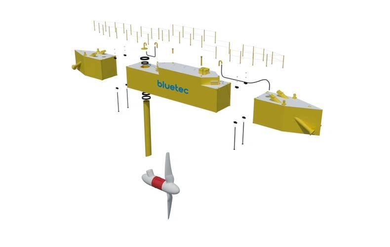 rendering of the platform, courtesy of Damen
