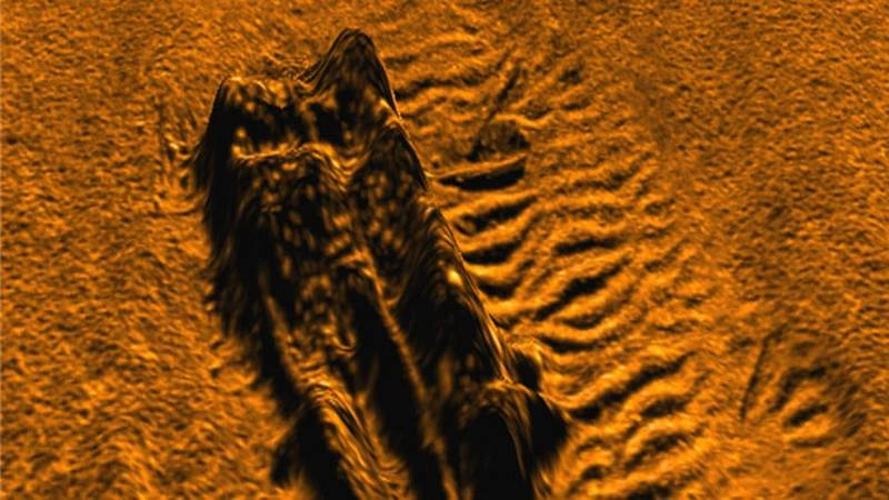 A 3D-image of shipwreck in Boston Harbor captured by a Bluefin-9 UUV using a Sonardyne Solstice Multi-Aperture Sonar. (General Dynamics Mission Systems)