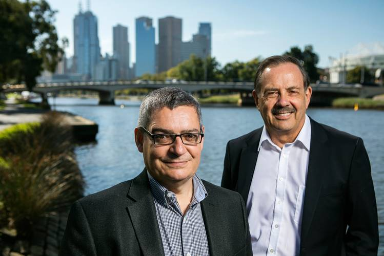 Aquabotix's CEO, Durval Tavares, and Chairman, Peter James (Photo: Aquabotix)