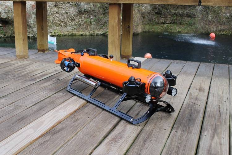 Aquabotix's second-generation hybrid vehicle, the Integra AUV/ROV. Photo: Aquabotix