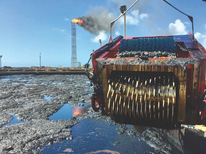 Aqua-Guard's RotoX skimmer was not originally designed for Arctic operations. The Arctic equipment was a modification; an advancement of Aqua-Guard's RBS-TRITON, or rotating brush skimmer, technology. (Credit: Aqua-Guard / RotoX)