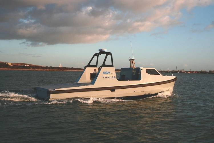 Autonomous vessels provide the key to the future safe conduct of naval operations in hostile and hazardous environments. (Photo: Thales Group)