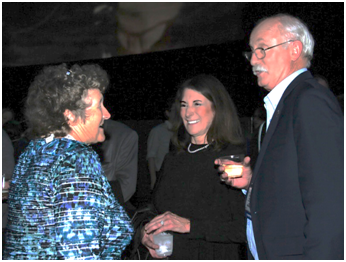 Barbara Fletcher, long-time IEEE-OES member, catches up with Stephanie and Ted Brockett, long-time MTS members. (Photo courtesy of Rick A. Smith)