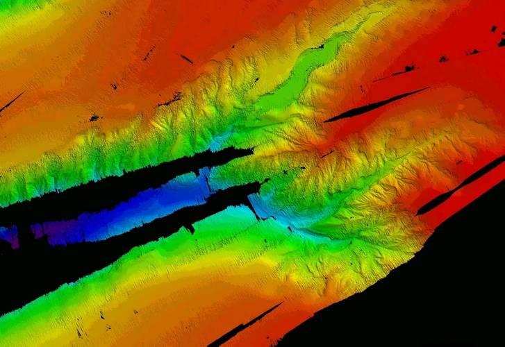 Bathymetry data from SEA-KIT's Atlantic mission. Image courtesy SEA-KIT