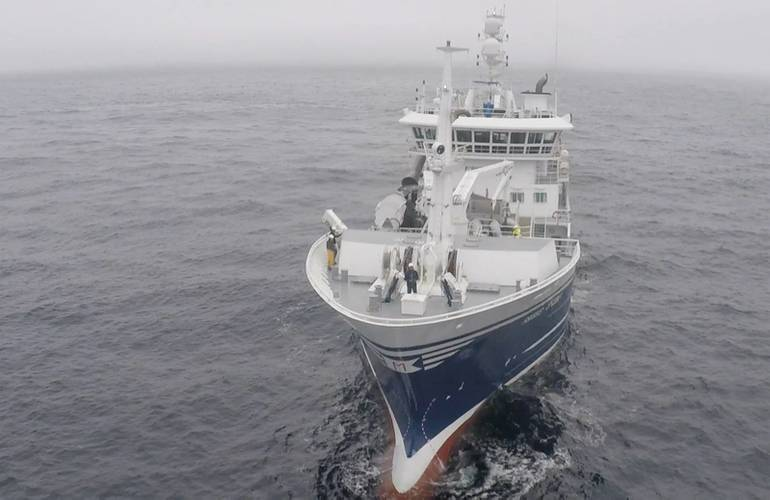Birdview has been testing its drones off fishing vessels in Norway. Photo from Bird View.