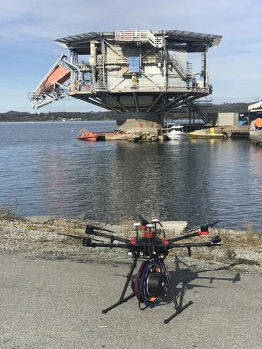Birdview's dipping sonar concept. Photo from Olav Bruset.