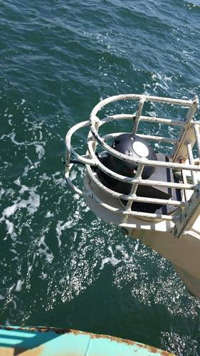 Cages on all corners of FAST1 platform are designed to protect acoustic sensors (Image: FORCE)