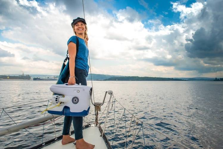 Christine Spiten - a passion for ocean #ACTION. Photo Courtesy Norhipping