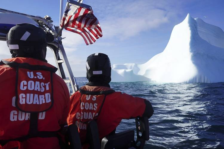 U.S. Coast Guard Cutter Campbell engages In joint Arctic exercises with the Royal Danish Navy vessel HDMS Knud Rasmussen near the Jacobshavn Glacier in West Greenland. U.S. Coast Guard photos by SN Kate Kilroyd