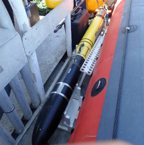 The AUV COMET-300. Photo courtesy RTsys