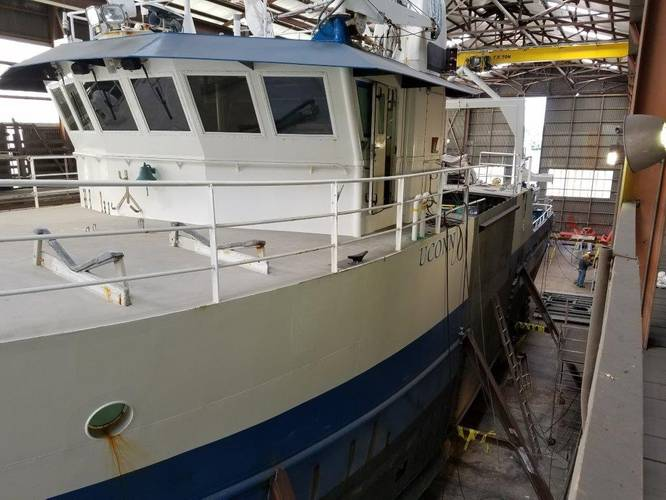 R/V Connecticut underwent a midlife refit that included the installation of 14-foot mid body extension (Photo: Glosten)