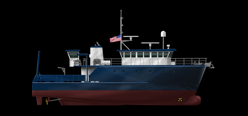 Construction of FIO's new research vessel is expected to be completed in summer 2017 (Image: Boksa Marine Design)