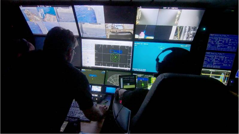 ROV control station during operations (Photo: 3U)
